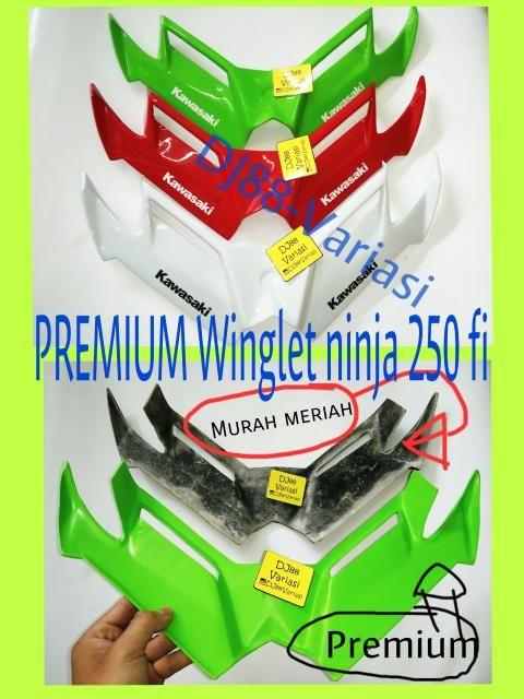 PREMIUM WINGLET NINJA 250 FI N250FI TEBEL BANGET GOOD QUALITY