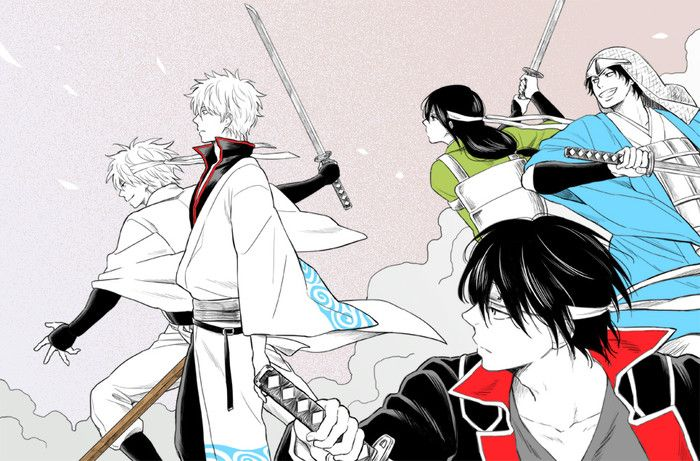 Gintama | Sakata Gintoki | Katsura Kotaro | Tagasuki Shinsuke | Sakamoto .... | what was his name...?