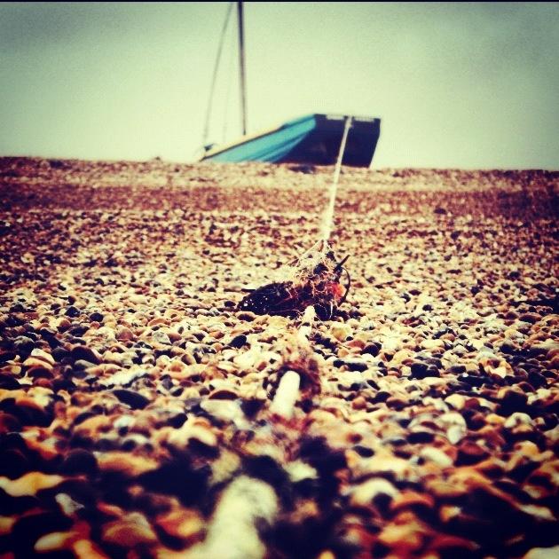 Boat on a shingly beach