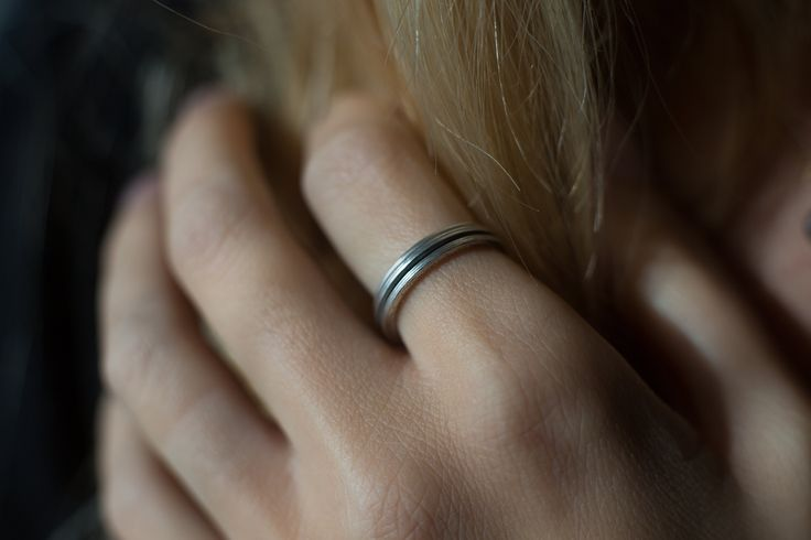 HEIR·LOOM, stackable silver ring by Rhodes Wedding Co.