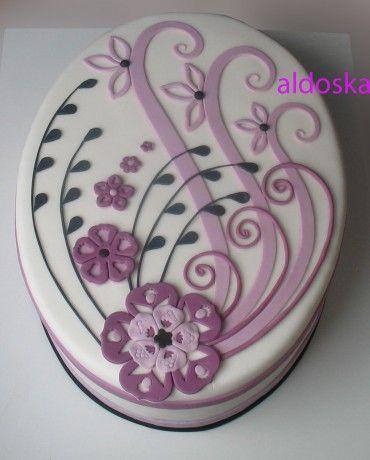 DORTY A SLADKOSTI aneb PEČEME S LÁSKOU - Fotoalbum - -MOJE PEČENÍ- - Moje dorty - My cakes - Ornament pro maminku mé milé kolegyně Jany