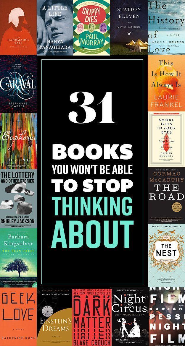 31 livros sobre os quais você não será capaz de parar de pensar   – Books, Music etc.