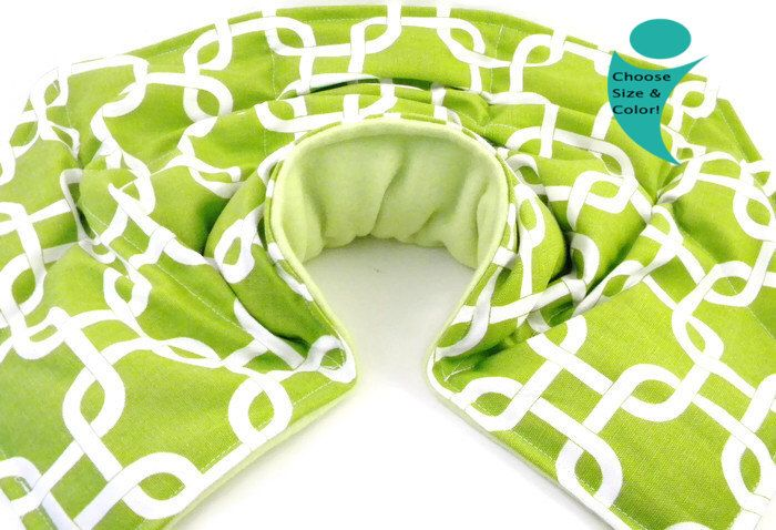 Microwave Heating Pad Neck Pillow Shoulder Back (NSB) - Hot Cold Therapy Pack - rice and flax bean bag heating pad, Massage Therapy Gift by theferriswheels on Etsy https://www.etsy.com/listing/79782786/microwave-heating-pad-neck-pillow