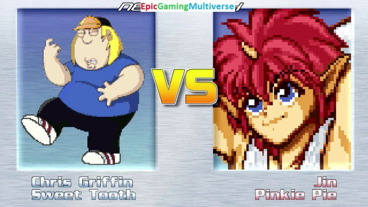 Sweet Tooth The Killer Clown & Chris Griffin VS Jin The Wind Master & Pinkie Pie In A MUGEN Match This video showcases Gameplay of Sweet Tooth The Killer Clown From The Twisted Metal Series And Chris Griffin From The Family Guy Series VS Jin The Wind Master From The Yu Yu Hakusho Series And Pinkie Pie From The My Little Pony Friendship Is Magic Series In A MUGEN Match / Battle / Fight