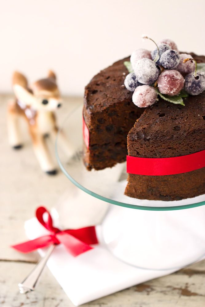Gorgeous Chocolate Fruit Cake - created by Gillian Bell. http://www.kiallafoods.com.au/bake-along/  (styling by Kijaro)