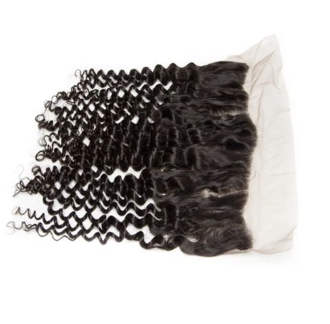Indian deep curly 13×4 lace frontal