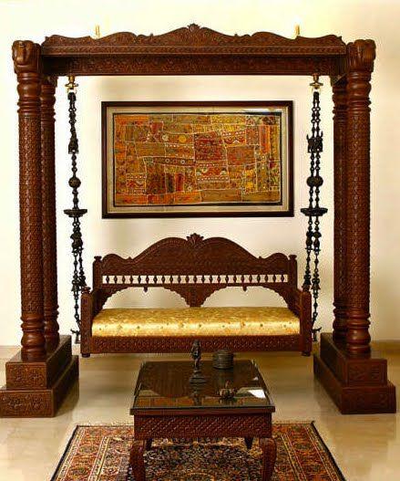 Jhoola - India carved swing! WOW