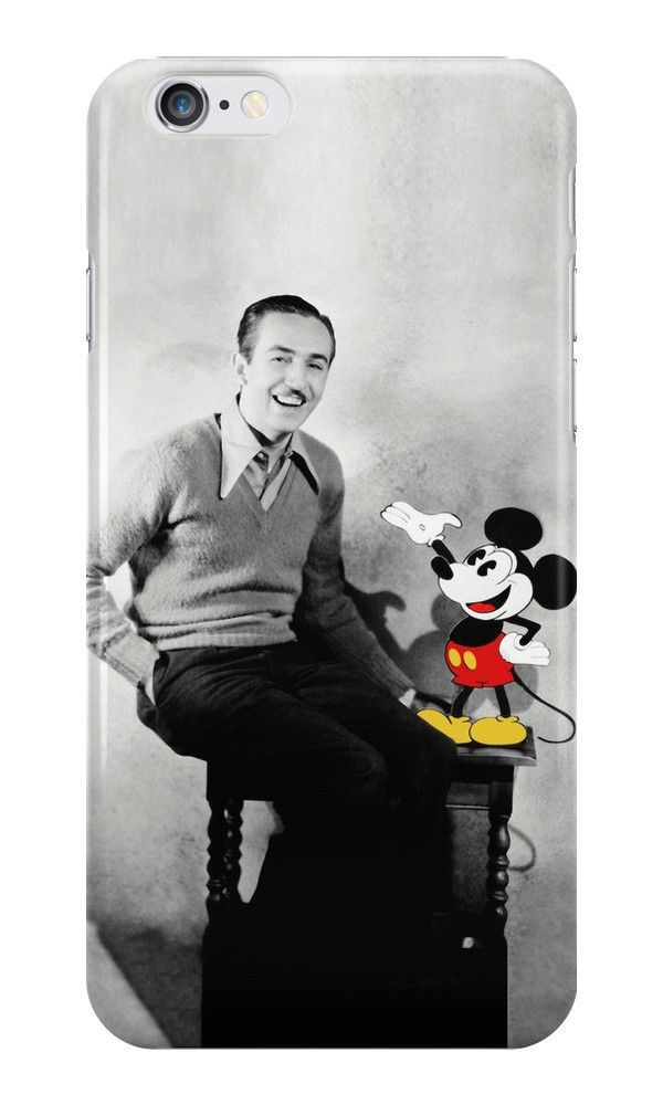 New Mickey and Walt Disney Vintage For iPhone 6 Hard Case Cover #31case
