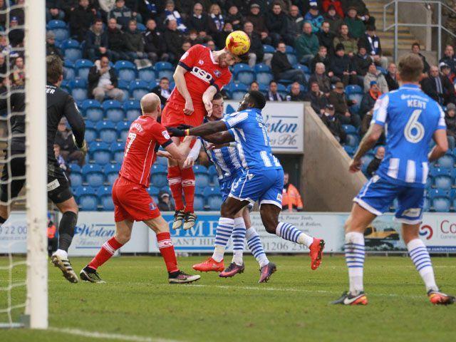 Shaun Brisley heads Carlisle's equaliser