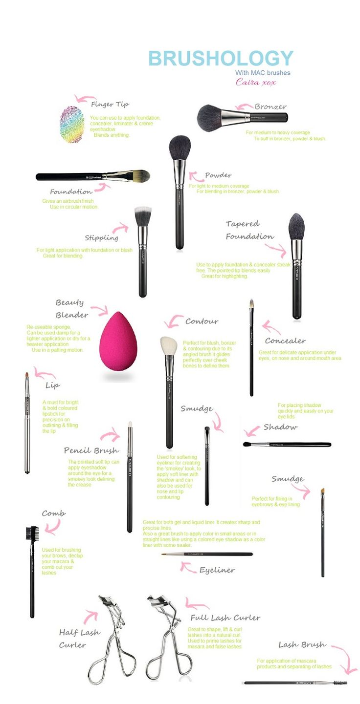 17 Best Ideas About Makeup Brush Guide On Pinterest