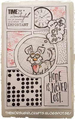 SARI HÄNNINEN - THE NORSU GIRL CRAFTS: COMIC STRIP STAMPING MED TIM HOLTZ CRAZY DOG