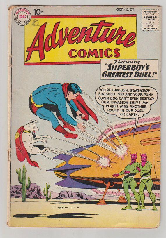 Adventure Comics Vol 1 277 Silver Age Comic by RubbersuitStudios #comicbooks #superboy #jerrysiegel