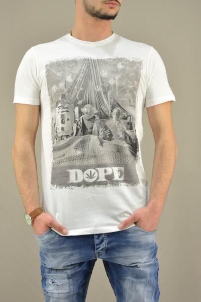 Ανδρικό t-shirt Star Wars Yoda Dope MPLU-0822-wh   Άνδρας