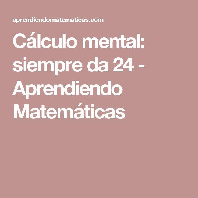 Mejores 24 imágenes de CÁLCULO MENTAL en Pinterest | Cálculo mental ...