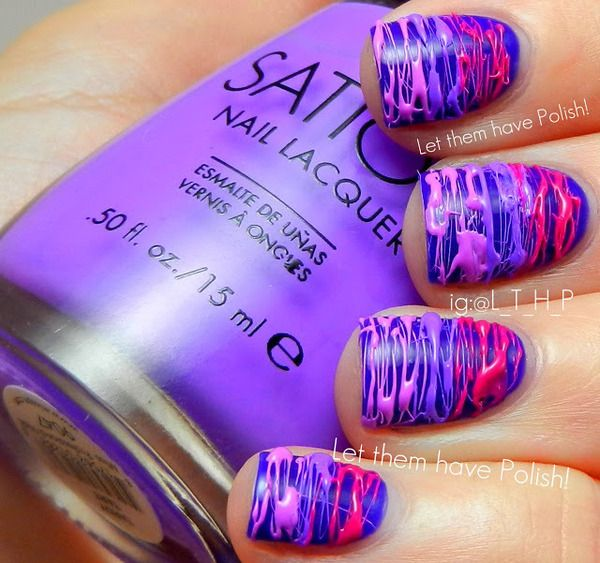 Justin Bieber Girlfriend parfume inspired nails!!! im gonna try this someday!!