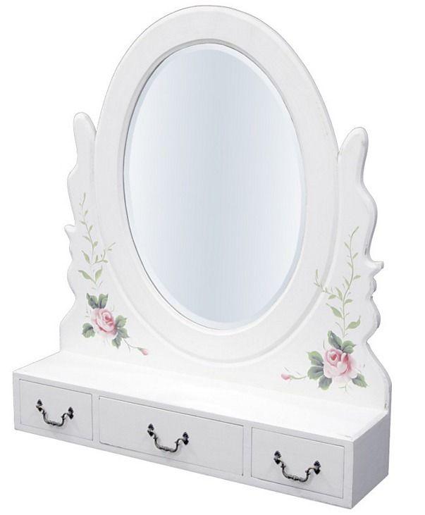 Vintage zrkadlo Kvety 1 - Najlepsinabytok.sk - Doprava ZDARMA!