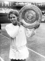 Evonne Goolagong winning Wimbledon 1971.