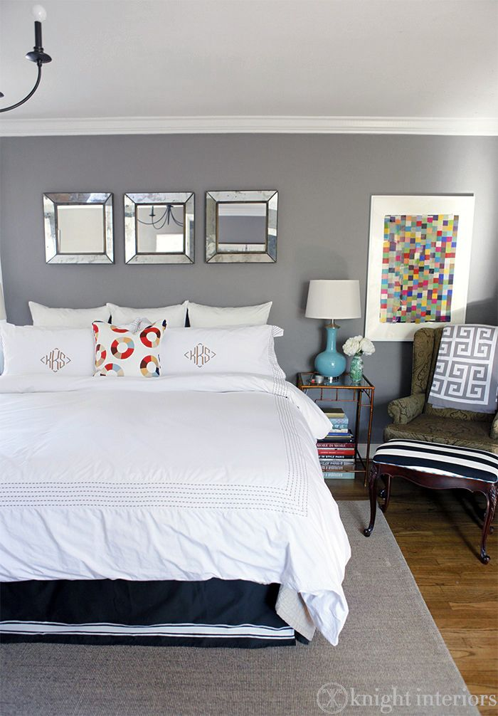 Knight Moves: Color Balance in the Guest RoomGuest Room, Slate Colors Bedrooms, House Ideas, Restoration Hardware Painting, Beach Lounger, Master Bedrooms, Painting Colors, Mirrors Ideass, Slate Painting