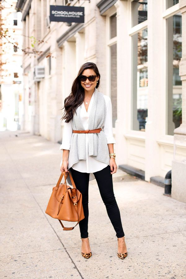 Early Fall Layers - Club Monaco vest // Aritzia blouse Frame jeans // Schutz heels // Belt Meli Melo bag // Celine sunglasses // Michael Kors watch Friday, September 25, 2015