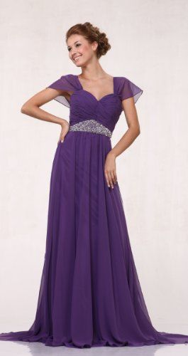 The Mother of the Bride needs to look spectacular as well, and she definitely will in the beautiful, flowing purple gown with waist accents. MY MOM LOVES PURPLE!