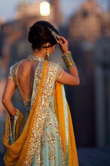 Saree in sunset. Beautiful.