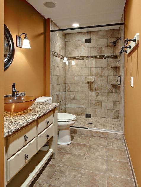 Looking for an earthy orange to complement natural stone tiles in a bathroom? Try Brandywine SW 7710.