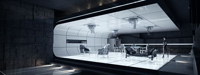 Tron Legacy Inspired 3d Visualization Arqui9