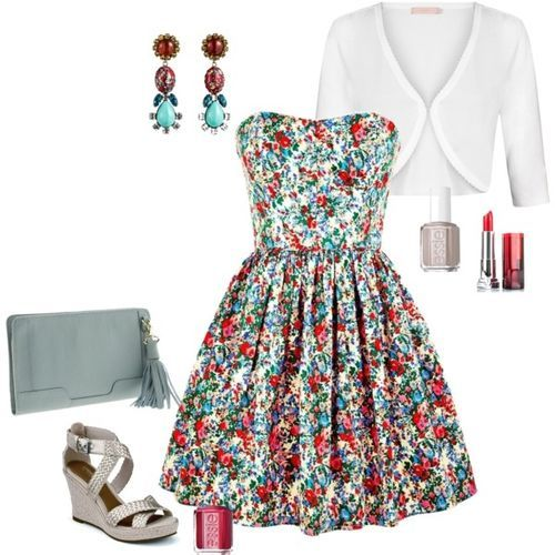 What to Wear to a Beer Garden Wedding (Jack Wills Merrifield Dress $70.37) (girls,dress,girl,fashion,style,clothes,polyvore,our picks)
