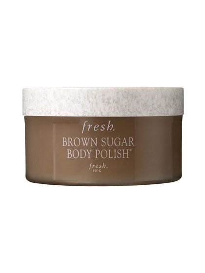"FRESH BROWN SUGAR BODY POLISH  This scrub originated in Russia, where the grandmothers of founders Lev Glazman and Alina Roytberg used sugar to heal cuts and wounds. When mixed with essential oils, it's the perfect exfoliant for dry, scaly skin. ""Sugar is supergentle, but it gets the job done,"" Barnes once told us. - Allure Mag's 50 Beauty Products to Buy Before You Die"