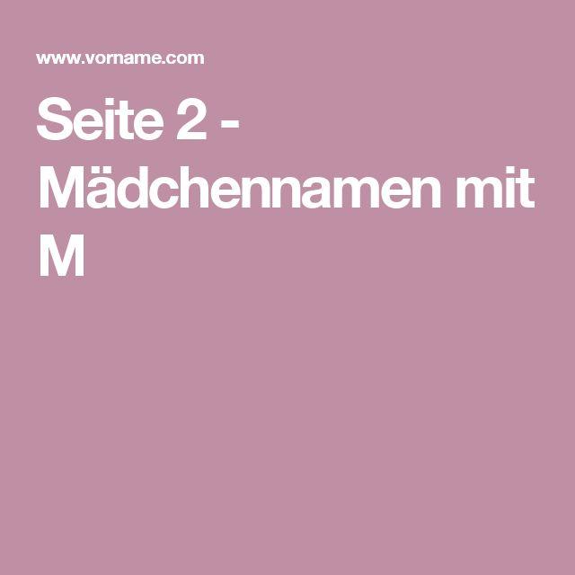 Seite 2 - Mädchennamen mit M