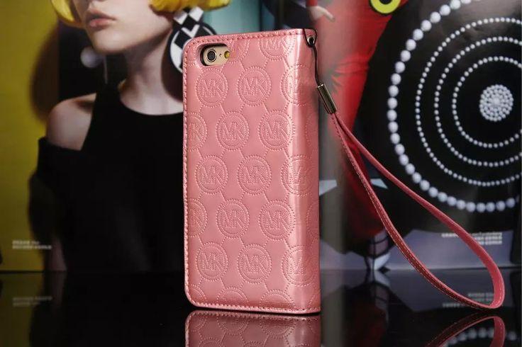 Michael Kors iPhone 7 Case Wallet MK Bling Vernis Cover Pink-01
