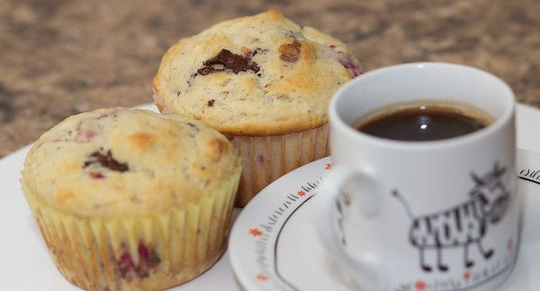 Morning muffins with espresso