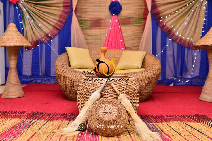 19 best nigerian wedding decor images on pinterest for Traditional wedding decor ideas