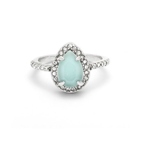Bianca Teardrop Ring One of my all time favorites! The blue is such a perfect blue! Shop my boutique today! Contact me if you'd like to host an online pop-up! https://www.chloeandisabel.com/boutique/beyourbest