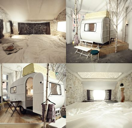 converted camper hotel #huettenpalast in Berlin - this has been an idea in my head for so long