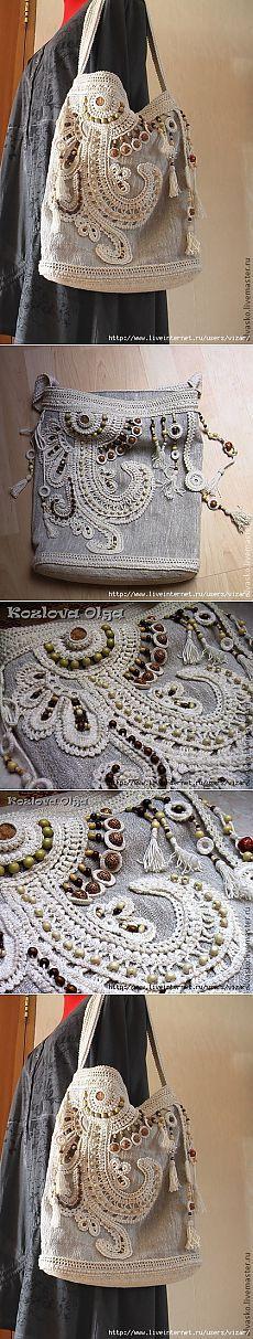 Летняя сумка в стиле бохо.