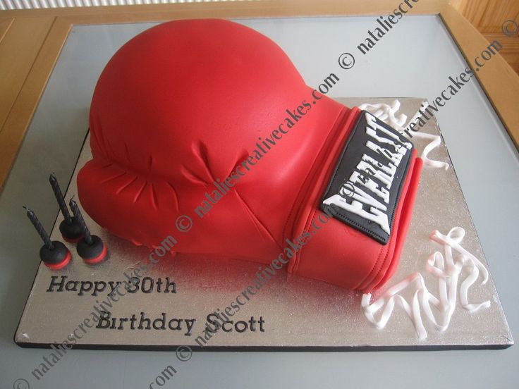 Boxing Glove Cake Because Cupcakes Need Their Own Board