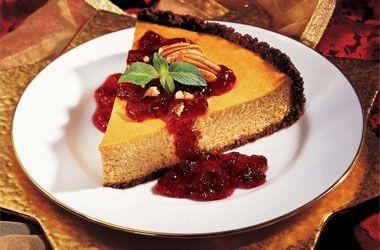 Cranberry Pumpkin Cheesecake