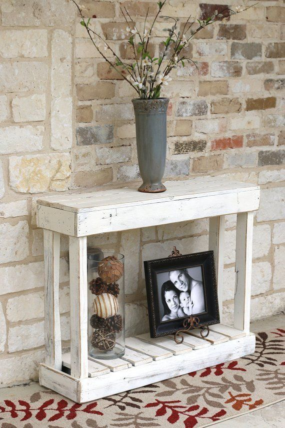 Favorite Pictures Image By Catherine Knapp Reclaimed Wood Console Table Unique Console Table White Console Table