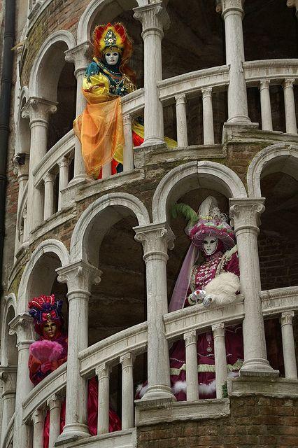 Dans l'Escalier du Contarini Del Bovolo..