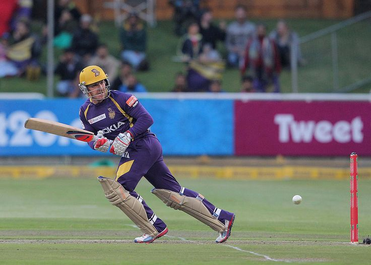Brendon McCullum of the Kolkata Knight Riders in action