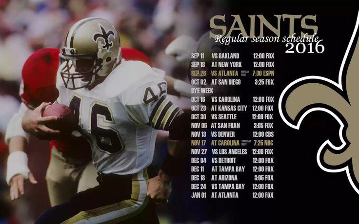 2016 New Orleans Saints Football Schedule in Honor of Hokie Gajan.