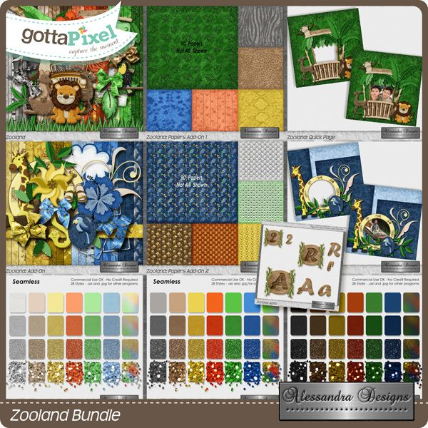 Zooland Bundle created by Alessandra Designs.