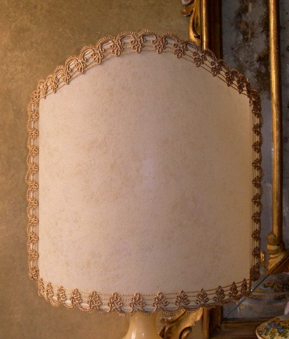 Venetian Half Lamp Shade in Veined Parchment  by OggettiVeneziani, $79.00