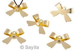 www.sayila.nl - Brass hanger/bedel (messing) strikje ± 16x11mm (oogje ± 1mm)