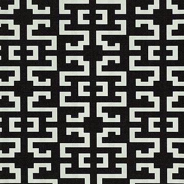 Geometric Print - Black and white geometric