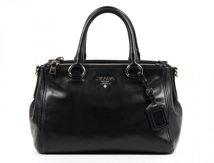 Prada shopping tote handbag BN2866 Nero Soft Calf