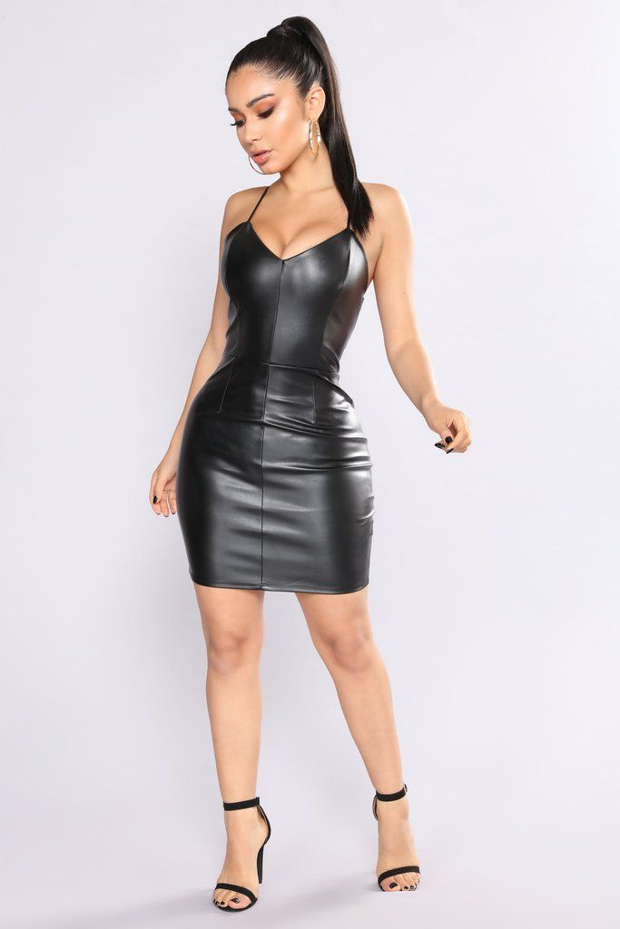 Katara Leather Dress - Black