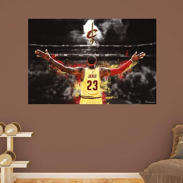 Cleveland Cavaliers fan? Prove it! Put your passion on display with a giant LeBron James Mural Fathead wall decal!