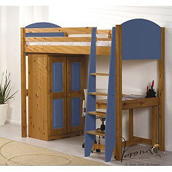 features very versatile bed frame ladder can be fitted to the left